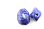 Porcelain Beads / Boulder 30MM Blue