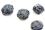 Porcelain Beads / Rose 21MM Denim Blue