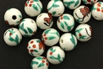 Porcelain Beads / Round 12MM White