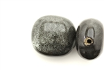Porcelain Beads / Puffed Square 29MM Gray
