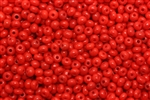 7/0, Seed Bead, Vintage, Czechoslovakian, Seed Beads, Deep Red