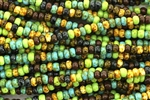 Seed Bead, Czech, Aged, 5/0, Mosaic Picasso Mix