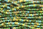 Seed Bead, Czech, Aged, Striped, Picasso Mix, 6/0