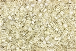 Seed Bead, Sew On, Square, 2MM, Czechoslovakian, Vintage, Silver Lined, Crystal