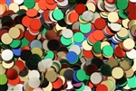 Sequin, 6MM, Round, Vintage, No Hole, Mixed Color