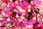 Sequin, 6MM, Round, Vintage, No Hole, Orchid Red Fluorescent