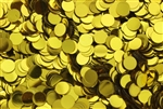 Sequin, 6MM, Round, Vintage, No Hole, Chartreuse