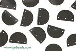 Sequin, Half Circle, Vintage, 15MM, Black