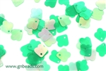 Sequin, Vintage, 8MM, Clover, Green Iris