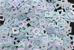 Sequin, Square, Vintage, 6MM, Chalk Light Blue Iris