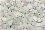Sequin, 6MM, Round, Vintage, No Hole, Chalk White Iris