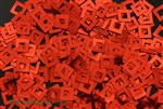 Sequin, Square, Vintage, 6MM, Red