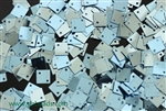 Sequin, Square, Vintage, 6MM, Ice Blue