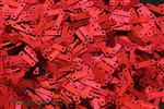 Sequin, Vintage, Rectangle, 9.5MM, Cherry Red