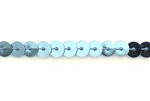 Sequin Trim, 5MM, Vintage, Flat Round, Ice Blue