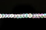 Sequin Trim, 5MM, Vintage, Round, Cupped, Crystal AB