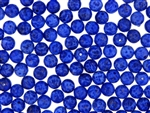 Vintage Czechoslovakian Matrix Beads / 8MM Round Lapis Blue