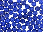 Vintage Czechoslovakian Matrix Beads / 10MM Round Lapis Blue