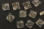 Vintage German Lucite / 20MM Diamond Cube