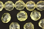 Vintage German Lucite / 16MM Faceted Round Twist