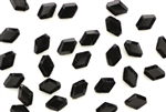 Vintage Sew On Crystal Beads / Faceted Diamond 8MM Black
