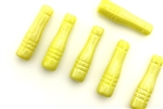 Vintage Czech Pillar Beads / Yellow Lustre 28MM