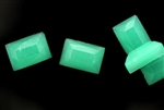 Vintage Czechoslovakian Cabochon / Rectangle Sea Green