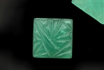 Vintage Czechoslovakian Cabochon / 18MM Square,Sea Green