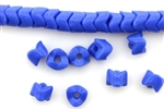 Snake Beads / Vintage Czechoslovakian,5MM Blue