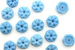 Vintage Sew On Beads / Flower 10MM Light Blue