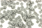Vintage Sew On Beads / Square 4MM Gray