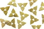 Vintage French Metal Sequin / Star 12MM Brass
