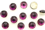 Vintage Sew On Beads / Faceted Round 2 Hole 10MM Purple