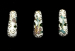 Cloisonne Beads,Vintage / Tear Drop 20MM White