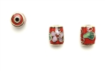 Cloisonne Beads,Vintage / Tube 10MM Red