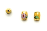 Cloisonne Beads,Vintage / Tube 10MM Yellow