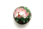 Cloisonne Beads,Vintage / Large Round 35MM Black