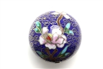 Cloisonne Beads,Vintage / Large Round 40MM Dark Blue