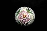 Cloisonne Beads,Vintage / Large Round 40MM White
