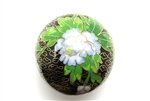 Cloisonne Beads,Vintage / Large Round 50MM Black