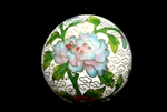Cloisonne Beads,Vintage / Large Round 50MM White