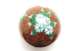 Cloisonne Beads,Vintage / Large Round 50MM Dark Red