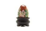 Cloisonne Egg,Vintage / 25MM Dark Red