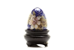 Cloisonne Egg,Vintage / 25MM Dark Blue