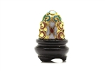 Cloisonne Egg,Vintage / 25MM Gold