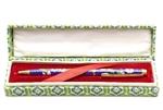Cloisonne Pen,Vintage / 133MM Dark Blue