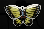 Porcelain Beads,Vintage Pendant / 61MM Butterfly