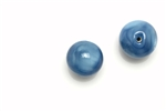 "Bead, Czech, Vintage, Glass, ""Silk"" Lampwork Beads, 12MM, Medium Blue"