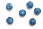 "Bead, Czech, Vintage, Glass, ""Silk"" Lampwork Beads, 9MM, Medium Blue"