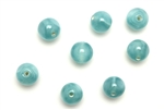 "Bead, Czech, Vintage, Glass, ""Silk"" Lampwork Beads, 7MM, Teal"